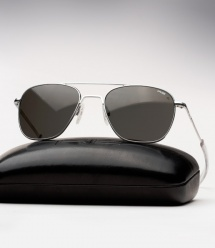 Randolph Engineering Aviator - Matte Chrome / Grey Polarized