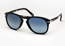 Persol 714SM - Black w/ Blue Gradient Polarized