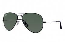 Ray Ban Aviator RB 3025 - Black / G15 Polarized