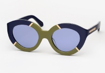 Karen Walker Flowerpatch - Navy / Khaki
