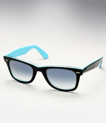 Ray Ban RB 2140 Wayfarer - Top Black on Azure