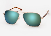 Oliver Peoples West Vanalden - Gold w/ G15 Green Mirror