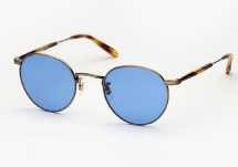 Garrett Leight Wilson M - Antique Gold / Pinewood w/ Blue