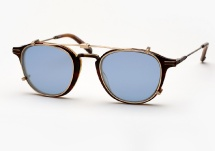 Garrett Leight Hampton Combo - Matte Whiskey Tortoise + Clip (Eye)