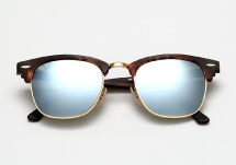 Ray Ban RB 3016 Clubmaster - Matte Havana / Silver Mirror