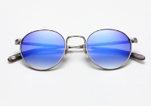 Garrett Leight Wilson M - Silver w/ Dodger Layered Mirror