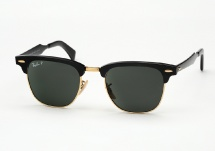 Ray Ban RB 3507 Clubmaster Aluminum - Black