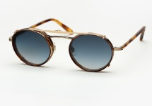 Garrett Leight Penmar - Antique Gold / Matte Pinewood + Clip (Eye)