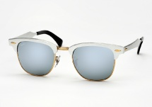 Ray Ban RB 3507 Clubmaster Aluminum - Brushed Silver