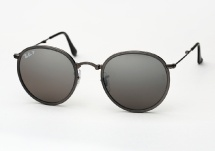 Ray Ban RB 3517 Round Metal Folding - Matte Gunmetal