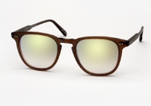 Garrett Leight Brooks - Matte Espresso w/ Gold Layered Mirror