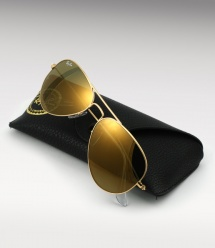 Ray Ban Aviator RB 3025 - Gold / Gold Mirror