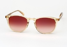 Garrett Leight Kinney - Champagne / Red Layered Mirror