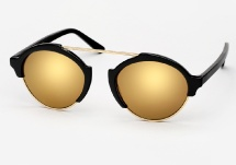 Illesteva Milan 3 - Black w/ Gold Mirror