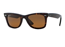 Ray Ban RB 2140 Wayfarer - Tortoise w/ Brown Polarized