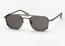 Garrett Leight Garfield - Pewter / Shadow + Clip (Eye)