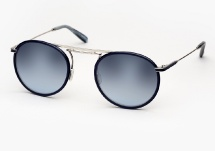 Garrett Leight Cordova - Navy Leather