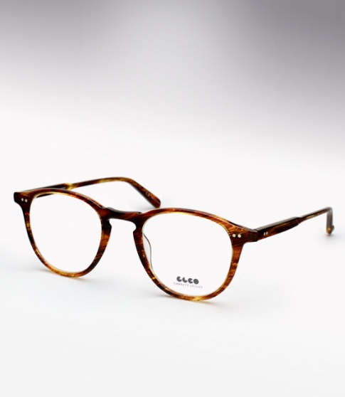 Garrett Leight Hampton - Chestnut + Clip (Eye)