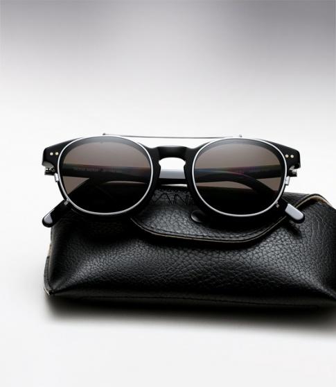 19921257a61 Randolph Engineering X Michael Bastian JD Eyeglasses with Clip On ...