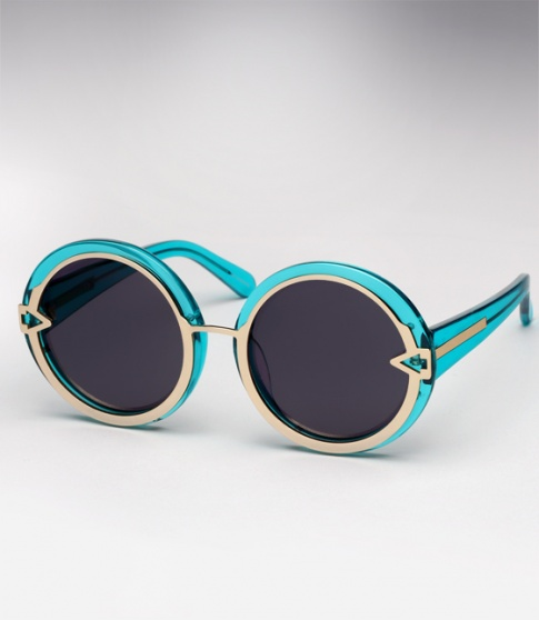 Karen Walker Orbit - Crystal Turquoise