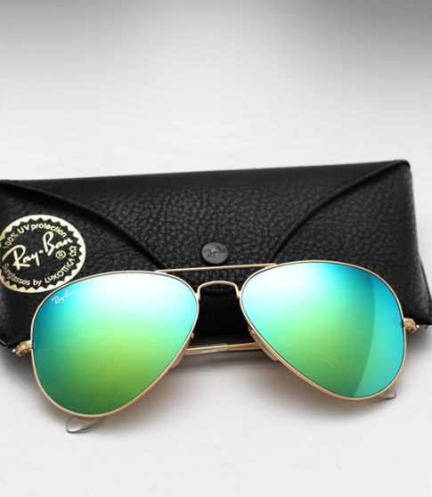 Ray Ban Aviator RB 3025 - Colored Mirror (Aqua Green)
