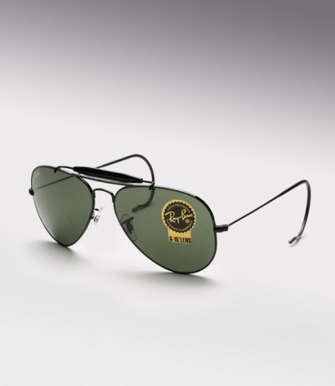 120d610cdf Ray-ban 3030 Outdoorsman Sunglasses With Black Frame And Green Lenses