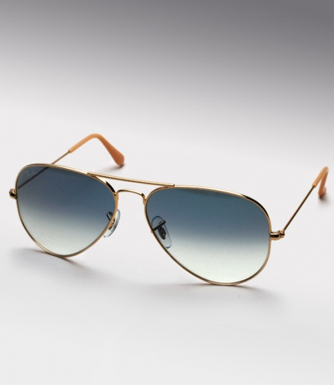 ray ban aviator rb3025  ray ban aviator rb 3025 gold / blue gradient