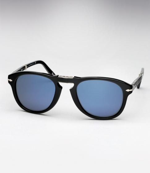 ac741adc6228 Persol 714SM Sunglasses - Steve McQueen - Black w/ Blue