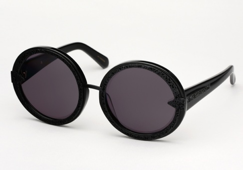4d52c3cc443f Karen Walker Orbit Filigree Sunglasses - Black