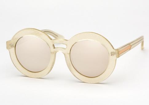8edc55c4fb8 Karen Walker Joyous Sunglasses - Gold Glitter