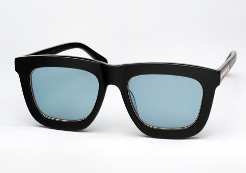 86404fedaae Karen Walker Deep Worship Sunglasses - Black   Blue Limited Edition