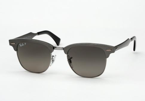 8602c54905b Ray Ban RB 3507 Clubmaster Aluminum Sunglasses - Brushed Gunmetal