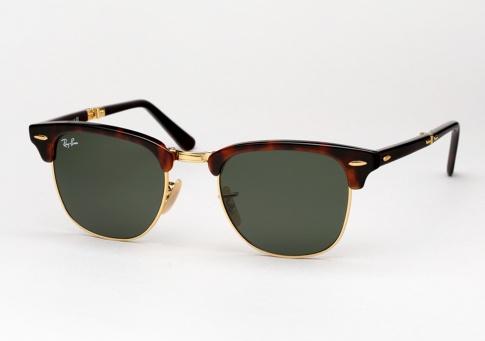 5b16ec68569 Ray Ban RB 2176 Clubmaster Folding Sunglasses - Red Havana