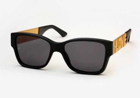 f446e7da2bb Vintage Frames Company Dice Love Hate Sunglasses - Matte Black and Gold