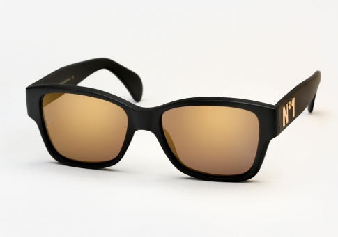 424e53bfc04 Vintage Frames Company Dice N1 Sunglasses - Matte Black and Gold