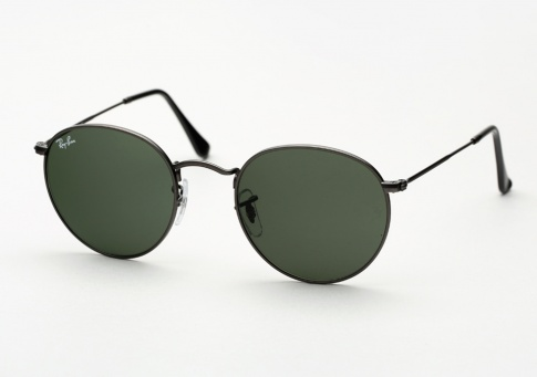 6d1bf119d2 Ray Ban RB 3447 Round Metal Sunglasses - Matte Gunmetal