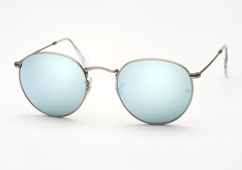 Ray Ban Rb 3447 Round Metal Sunglasses Matte Silver W