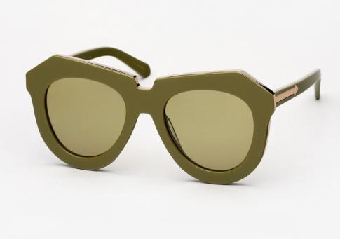 76b9c51b16e4 Karen Walker One Meadow Sunglasses - Khaki and Gold