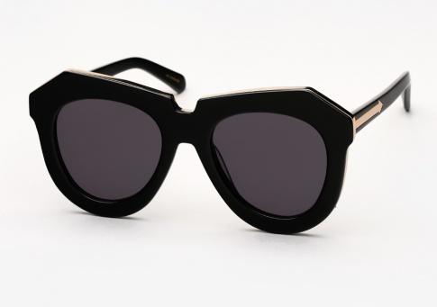 8ea9be209619 Karen Walker One Meadow Sunglasses - Black and Gold