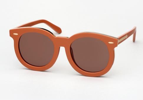 9a72f748b667f Karen Walker Super Duper Thistle Sunglasses - Tan and Gold