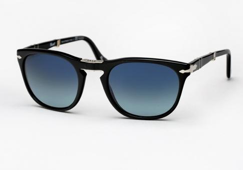 53699fa072c97 Persol 3028 Sunglasses - Black   Blue Gradient Polarized
