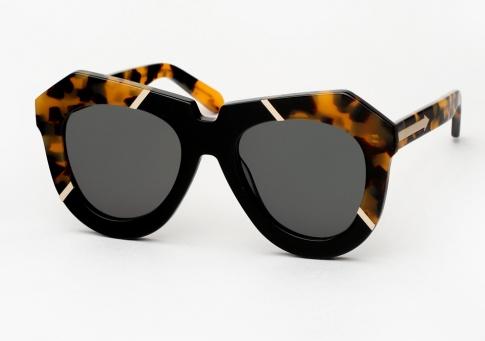5d4b69b0fcc Karen Walker One Splash Sunglasses - Tortoise   Black