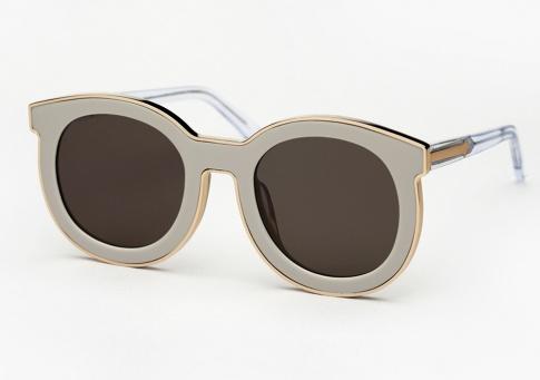 2e8e4627b2f6 Karen Walker Super Spaceship Sunglasses - Soft Grey