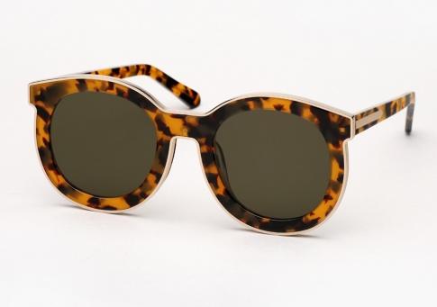 7fcd41ddb03b Karen Walker Super Spaceship Sunglasses - Tortoise