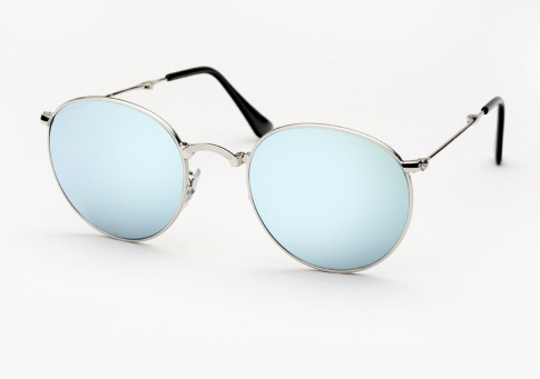 0a34cc53d27bf Ray Ban RB 3532 Round Metal Folding Sunglasses - Silver w  Silver Mirror
