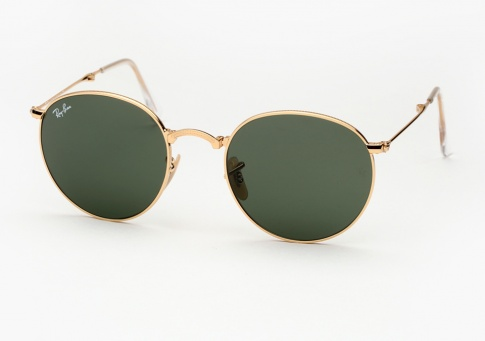 a8c7e677c4 Ray Ban RB 3532 Round Metal Folding Sunglasses - Gold w  G15