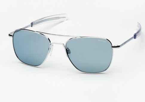 6d455089847 Randolph Engineering Aviator sunglasses - Bright Chrome with Blue Lenses -  Johnny Depp