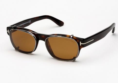 002e22b7be Tom Ford TF 5276 Eyeglasses + Clip on Lenses - Havana