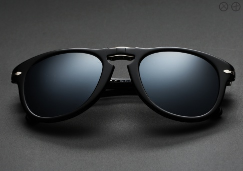Persol 714SM X Custom Projects, Black Ice (Polarized)