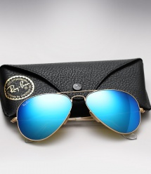 Ray Ban Aviator RB 3025 - Colored Mirror (Blue)